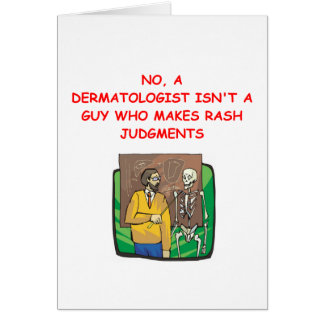 dermatologist greeting card