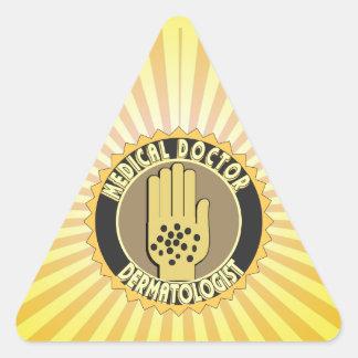 Dermatologist LOGO Triangle Sticker