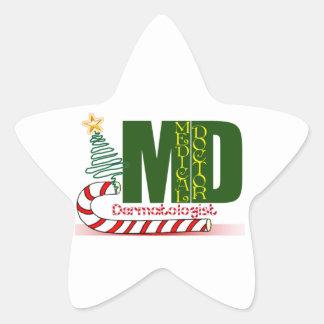 Dermatologist MERRY CHRISTMAS Star Sticker