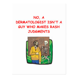 dermatologist postcard