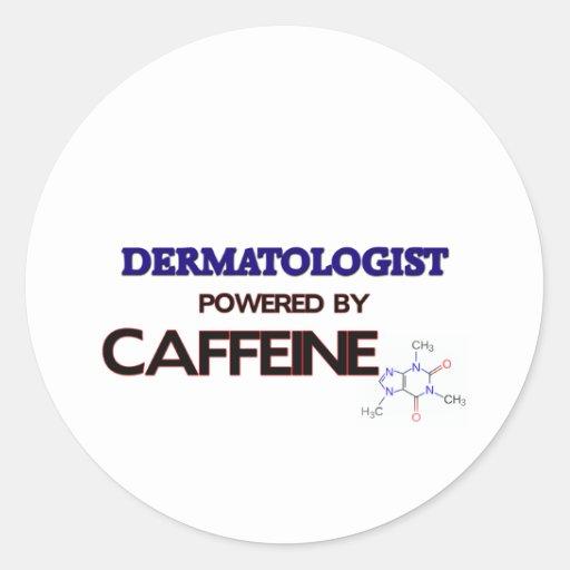 Dermatólogo accionado por el cafeína pegatinas redondas