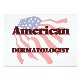 """Dermatólogo americano invitación 5"""" x 7"""""""