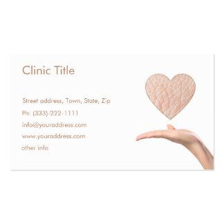 Dermatólogo blanco simple - doctor de piel tarjeta tarjetas de visita