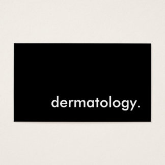 dermatology. business card