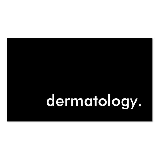 dermatology. business card template