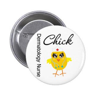 Dermatology Nurse Chick v1 2 Inch Round Button