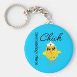 Dermatology Nurse Chick v1 Keychains
