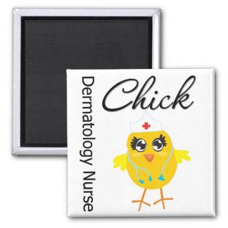 Dermatology Nurse Chick v1 2 Inch Square Magnet