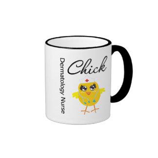 Dermatology Nurse Chick v1 Ringer Coffee Mug