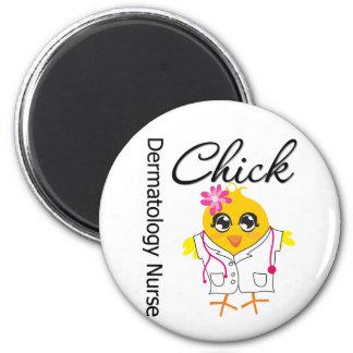 Dermatology Nurse Chick v2 2 Inch Round Magnet