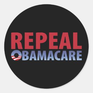 Derogación Obamacare Pegatina Redonda
