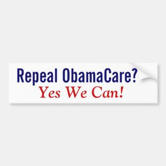 ¿Derogación ObamaCare? ¡Podemos sí! Pegatina Para Auto