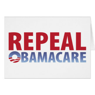 Derogación Obamacare Tarjeta De Felicitación