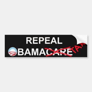 Derogación ObamaTax 2012 Etiqueta De Parachoque