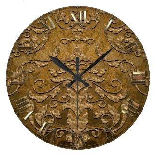 Derougge Damask Large Clock