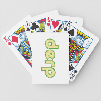 Derp 1 bicycle playing cards
