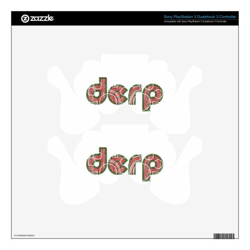 Derp 4 skins for PS3 controllers