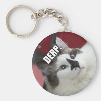 Derp Cat Keychain