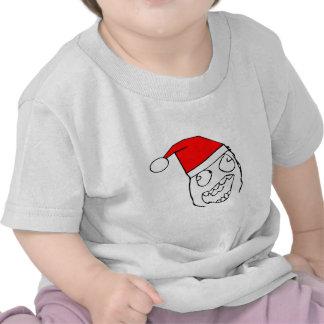 Derp feliz santa - meme camisetas