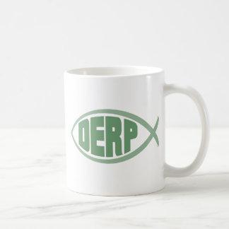 Derp Fish Classic White Coffee Mug