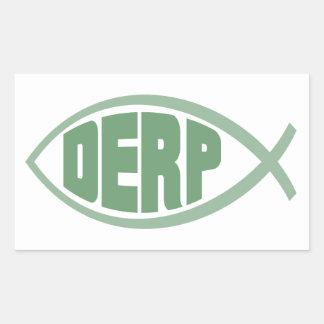 Derp Fish Rectangular Sticker