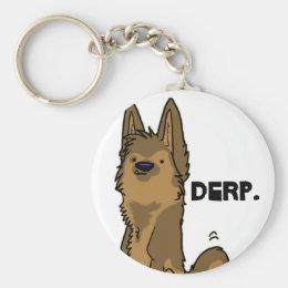 Derp - German Shepherd keychain
