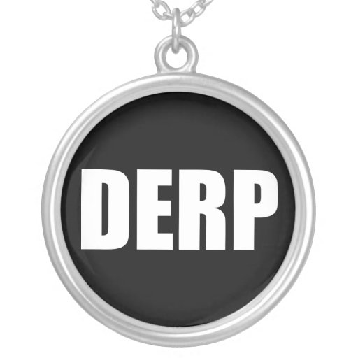 DERP ROUND PENDANT NECKLACE