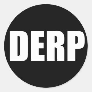 DERP CLASSIC ROUND STICKER