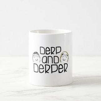 Derp y meme del derper taza básica blanca