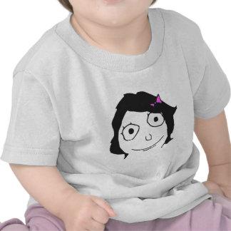 Derpina Black Hair Brunette Rage Face Meme Tee Shirt