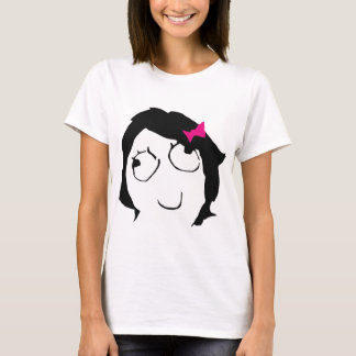 Derpina - black hair, pink ribbon T-Shirt