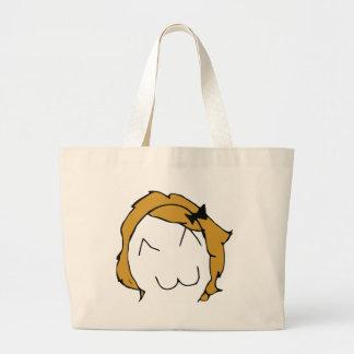 Derpina - blond hair, ribbon - meme bag
