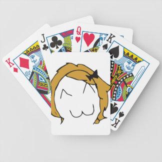 Derpina - blond hair, ribbon - meme bicycle playing cards