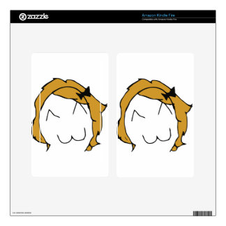 Derpina - blond hair, ribbon - meme decal for kindle fire
