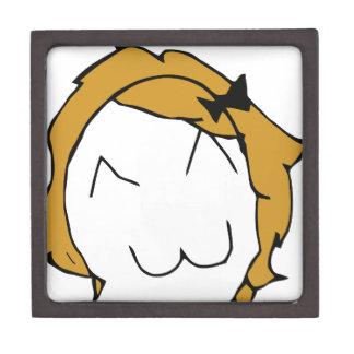 Derpina - blond hair, ribbon - meme keepsake box