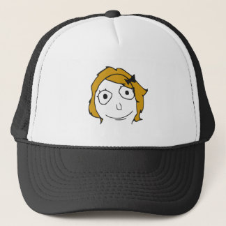 Derpina Blonde Yellow Hair Rage Face Meme Trucker Hat