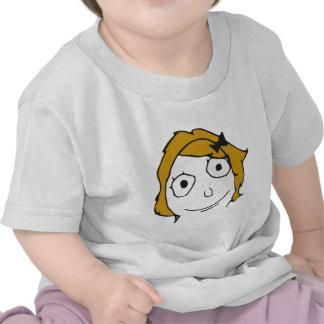 Derpina Blonde Yellow Hair Rage Face Meme Tee Shirt