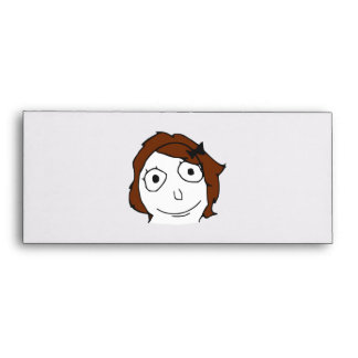 Derpina Brown Hair Rage Face Meme Envelopes