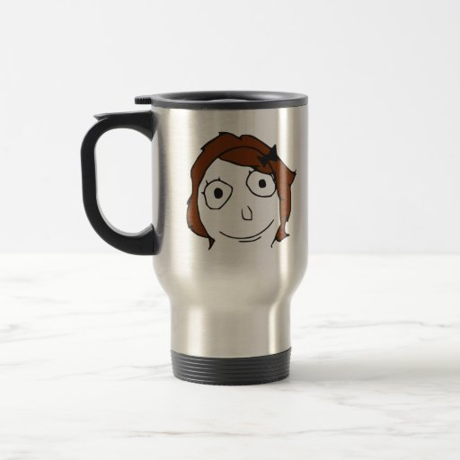Derpina Brown Hair Rage Face Meme Coffee Mug