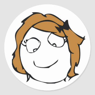 Derpina Classic Round Sticker