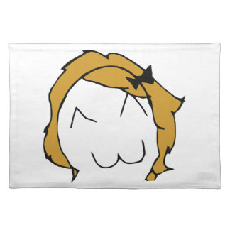 Derpina (Kitteh Smile) - Placemat Cloth Place Mat
