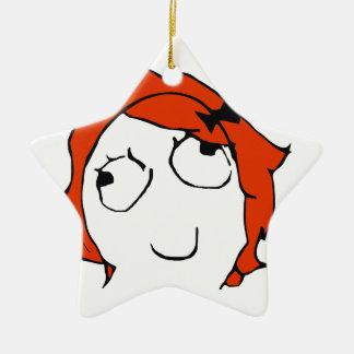 Derpina - meme adorno de cerámica en forma de estrella