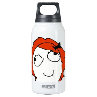 Derpina - meme insulated water bottle