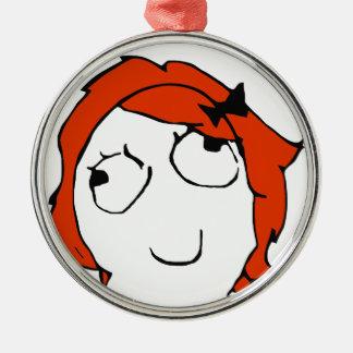 Derpina - meme metal ornament