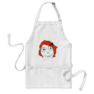 Derpina Red Hair Rage Face Meme Adult Apron