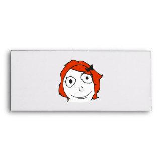 Derpina Red Hair Rage Face Meme Envelopes
