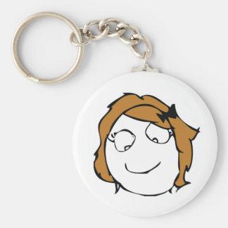 Derpina Troll Basic Round Button Keychain