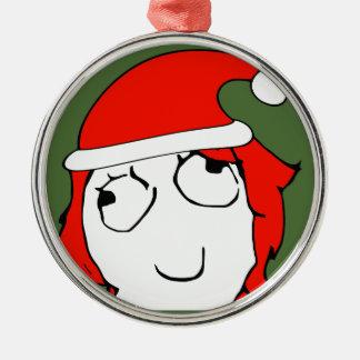Derpina Xmas Meme Metal Ornament