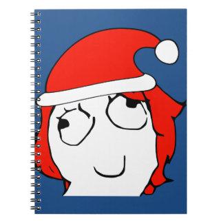 Derpina Xmas Meme Note Book