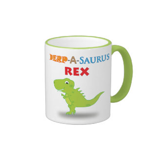 Derpy Dino Cartoon Mug